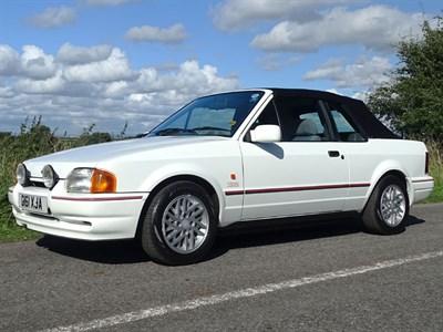 Lot 27 - 1990 Ford Escort XR3i Cabriolet