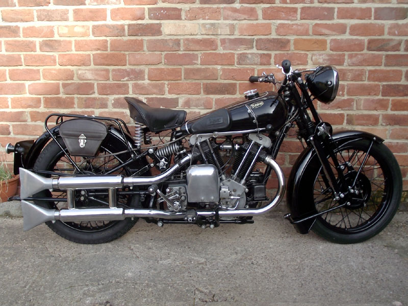 Lot 32-1934 Brough Superior 680 Black Alpine