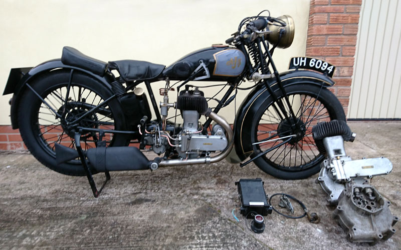 Lot 47-1929 AJS Model M4 Deluxe Sport