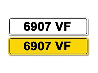Lot 7-Registration Number 6907 VF