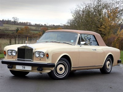 Lot 73 - 1982 Rolls-Royce Corniche Convertible