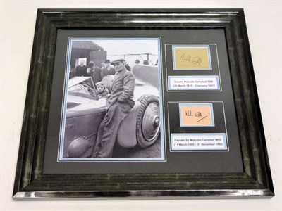Lot 56 - Malcolm and Donald Campbell Signed Photographic Presentation