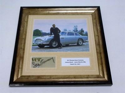 Lot 34 - Sean Connery / James Bond Aston Martin DB5 Signed Presentation