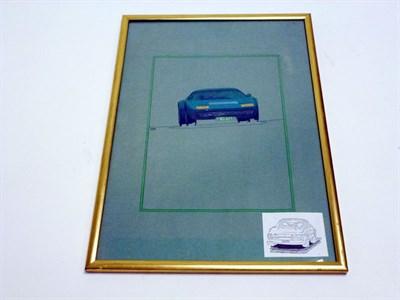 Lot 26 - Ferrari 365 BB Original Pininfarina Coachwork Drawing