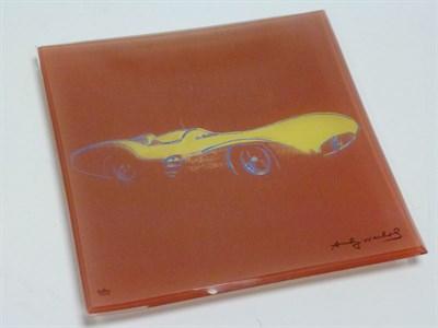 Lot 9 - Rare Andy Warhol (Rosenthal Studio Line) Mercedes-Benz Glass Plate