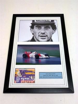 Lot 77 - Ayrton Senna Hand-Signed Photographic Presentation