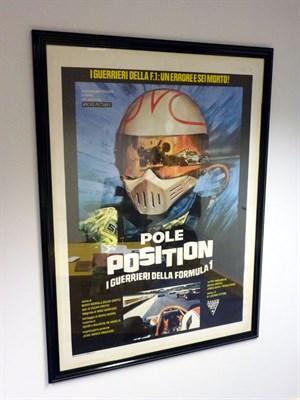 Lot 46 - Framed/Glazed Large 'Pole Position' Movie Poster