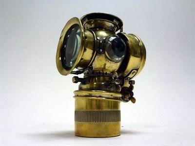 Lot 35 - 'The Karnan' Brass Self-Generating Headlight