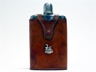 Lot 19 - A Leather-Covered Drinks Flask