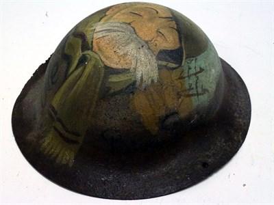 Lot 86 - Old Bill Tommy Soldier WWI Helmet