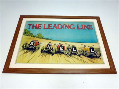 Lot 88 - Rare Shell Petroleum 'The Leading Line' Advertising Poster, 1930s