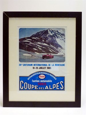 Lot 73 - 1965 Rally Coupe Des Alpes Advertising Poster