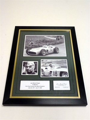 Lot 93 - J.M. Fangio Signed Photographic Presentation