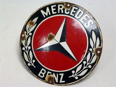 Lot 87 - Mercedes-Benz Enamel Sign