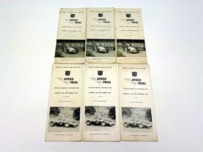Lot 1 - Chateau Impney Speed Trial Programmes