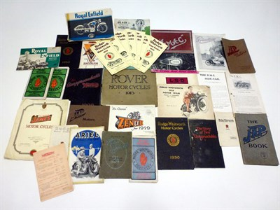 Lot 2 - Quantity of Motorcycle Sales Brochures