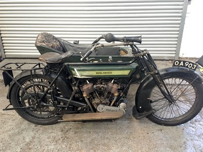 Lot 20 - 1913 Royal Enfield 750cc Combination