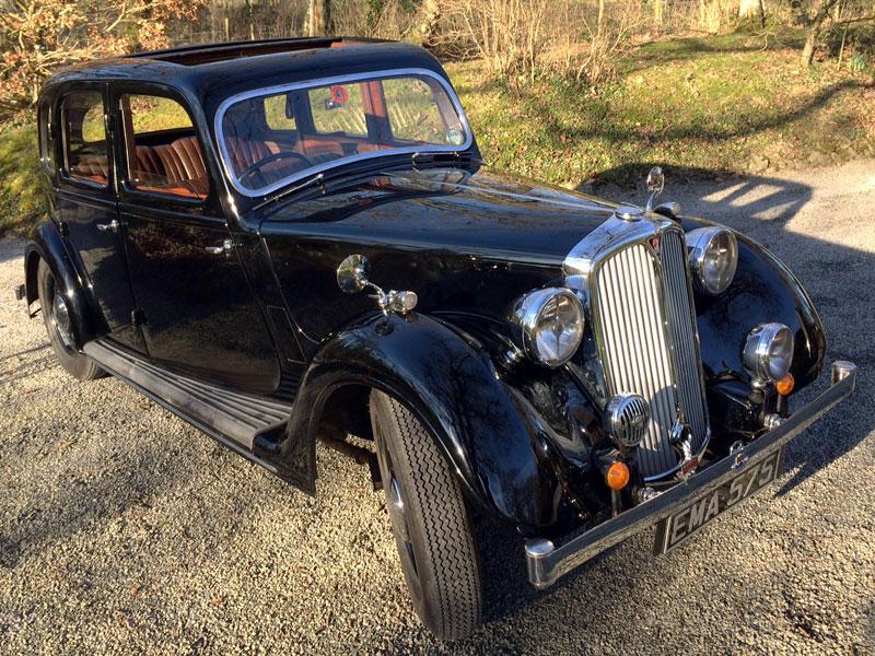 Lot 63 - 1937 Rover 12hp Six Light Saloon