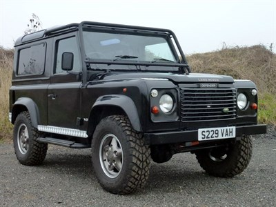 Lot 37-1998 Land Rover Defender 90 50th Anniversary