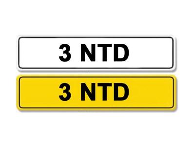 Lot 3-Registration Number 3 NTD