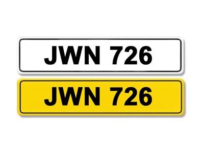 Lot 5-Registration Number JWN 726