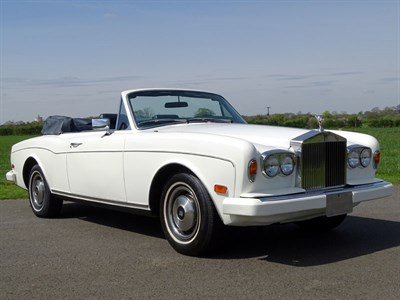Lot 25-1982 Rolls-Royce Corniche Convertible