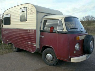 Lot 12-1975 Volkswagen Type 2 Jurgens Autovilla Camper Van