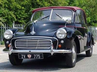 Lot 1-1955 Morris Minor SII 'Split Screen' Convertible Conversion