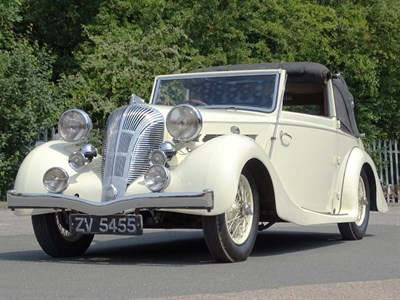 Lot 40-1939 Triumph Dolomite 14/60 Drophead Foursome Coupe
