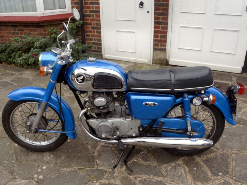 Lot 64 - 1973 Honda CD175 K4