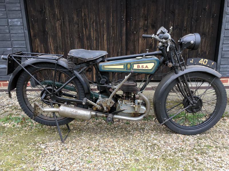 Lot 32-1927 BSA B27 De Luxe