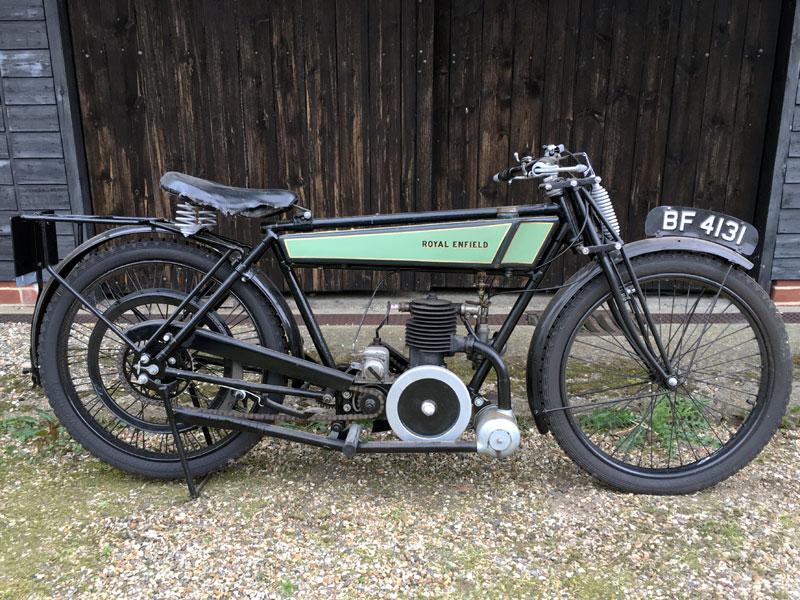 Lot 33-1925 Royal Enfield 2 1/4hp