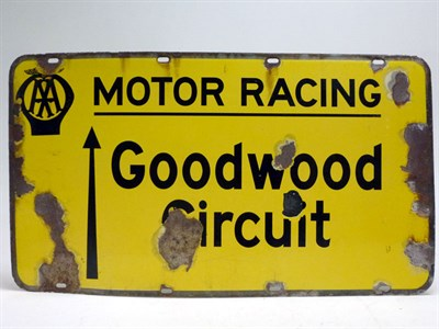 Lot 32-Goodwood Motor Circuit Enamel Sign