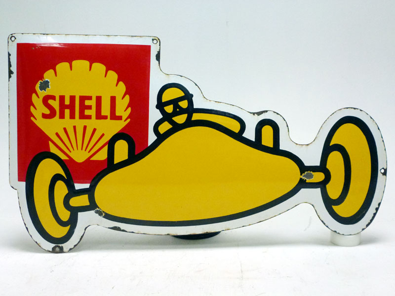 Lot 68-A Shell Enamel Sign
