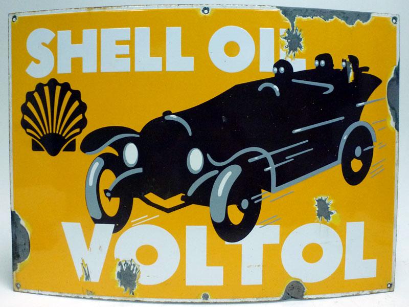 Lot 43-Shell Voltol Pictorial Enamel Sign