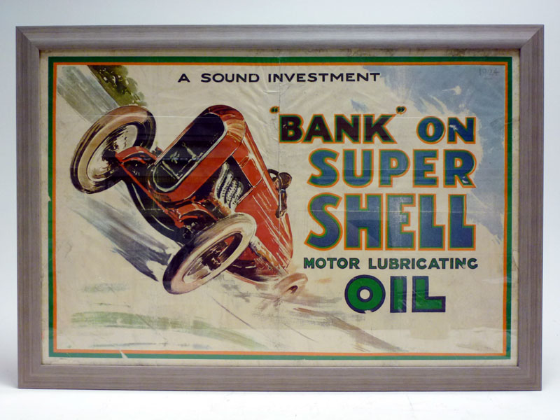 Lot 41-A Rare 'Bank on Super Shell' Advertising Poster, 1924