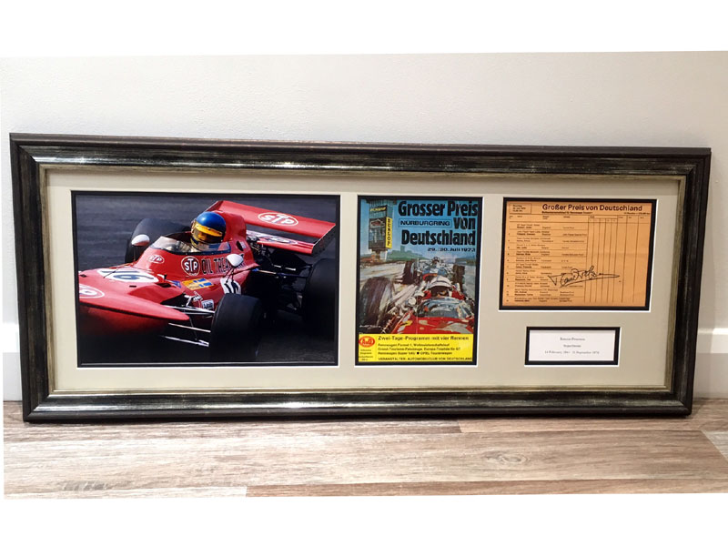 Lot 15-Ronnie Peterson / German Grand Prix Signed Presentation