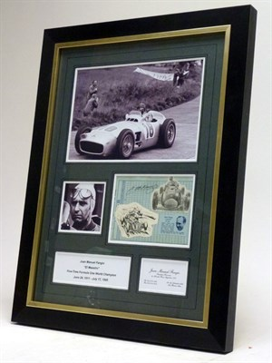 Lot 16-J.M. Fangio Signed Photographic Presentation