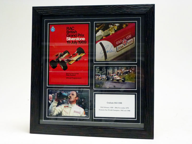 Lot 47-Graham Hill / Lotus 49B Signed Presentation