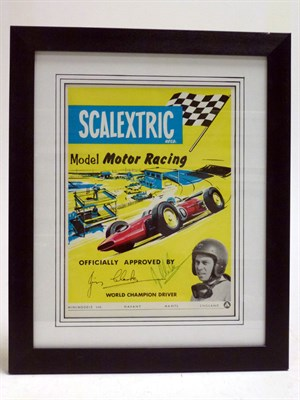 Lot 6-A Scalextric Poster, Signed by Jim Clark