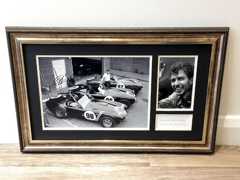 Lot 23-Carroll Shelby 'Cobras at the Factory' Signed Presentation