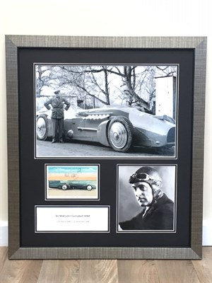 Lot 10-Malcolm Campbell / Bluebird Signed Presentation