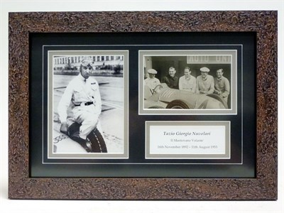 Lot 66-Tazio Nuvolari / Auto Union Signed Presentation
