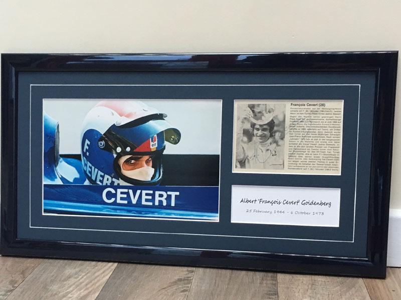 Lot 28-Francois Cevert Signed Presentation