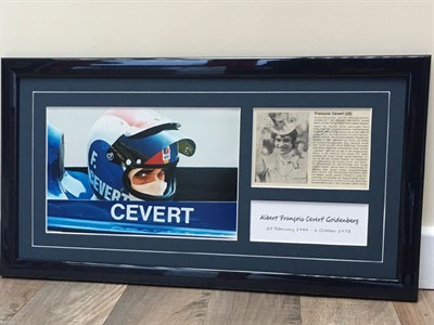 Lot 28-Francois Cevert Signed Presentation