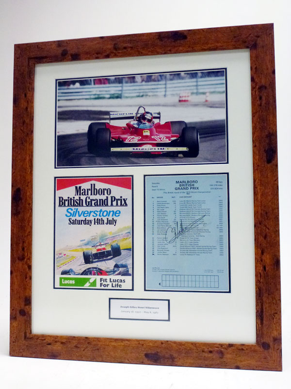 Lot 50-Gilles Villeneuve / Ferrari Signed Presentation