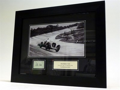 Lot 31-John Cobb / Napier-Railton at Brooklands Signed Presentation