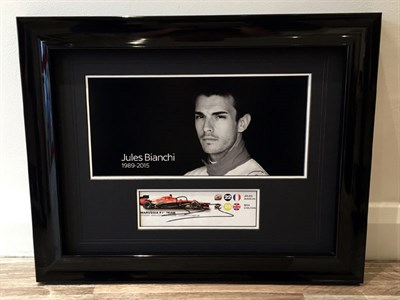 Lot 36-'A Tribute to Jules Bianchi' Signed Presentation