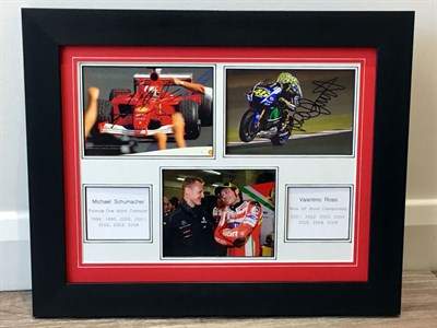 Lot 33-Michael Schumacher / Valentino Rossi 'World Champions' Presentation