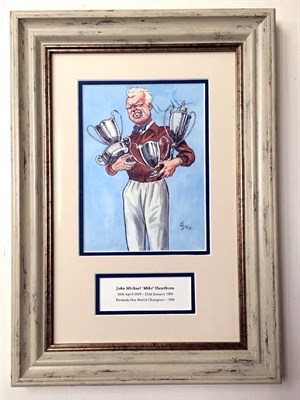 Lot 65-Mike Hawthorn Signed Artwork